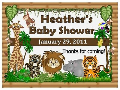 15 Jungle Baby Shower Favors Magnets