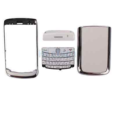 New Replacement 4-Piece Full Housing Cover for BlackBerry 9700 Silver + Tools