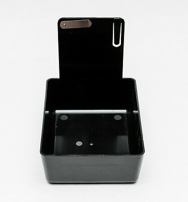 New Dental Laboratory Working Case Plastic Pan Tray With Clip Holder - Black