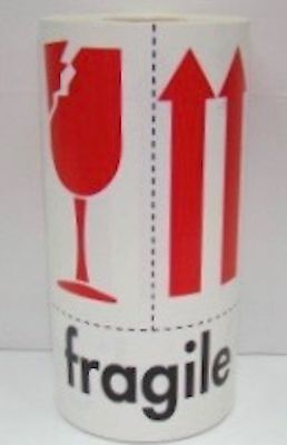 500 Labels 4x6 Fragile / Arrow / This Side Up / Broken Glass Shipping Stickers
