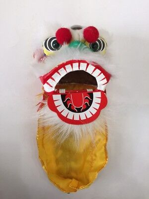 "4.5"" Mini Chinese New Year Lion Dragon Head Dance Decoration Performance Show"