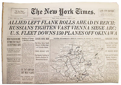 NY Times 4/7/45 Allies Tighten Their Hold German Reich