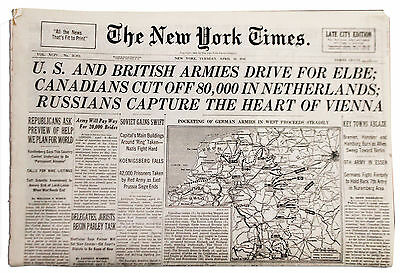 4/10/45 NY Times Russians Capture the Heart of Vienna