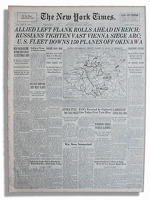 Allied Left Flank Rolls Ahead Reich 4/7/1945 NY Times