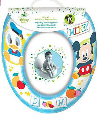 DISNEY Mickey Mouse Donald Duck Childs Padded Potty Toilet Training Seat WC