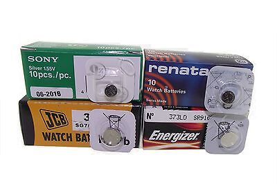 Watch Battery Button Cell Batteries Renata Sony Seiko Energizer Jcb - All Sizes-