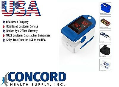 Concord Basics Finger tip Pulse Oximeter Sp02 Oxygen Monitor - Blue + Accesories