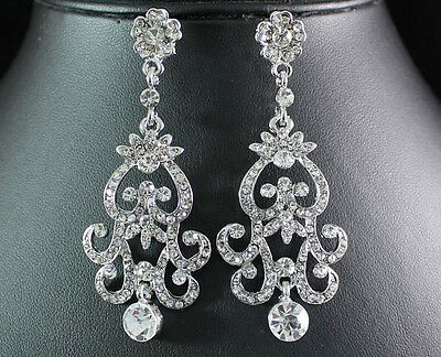Gorgeous Austrian Rhinestone Crystal Dangle Earrings Bridal Prom N1515 Earring