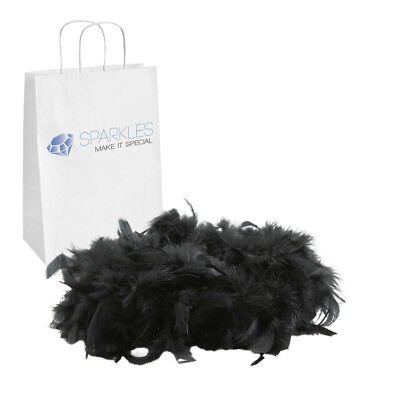 2yd Black Feather Boa Birthday Bachelorette Party Wedding Special Event Decor