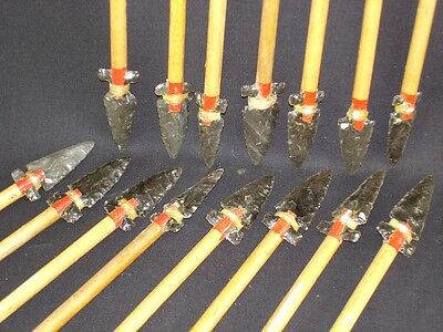 100 year old Fletched Hupa-Karok arrows - obsidian points, made by Ted Orcutt