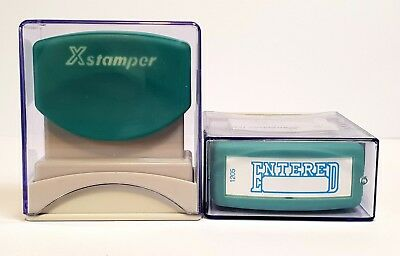 "XStamper CX-BN 1205 ""ENTERED/DATE"" Blue - PQ5012050"