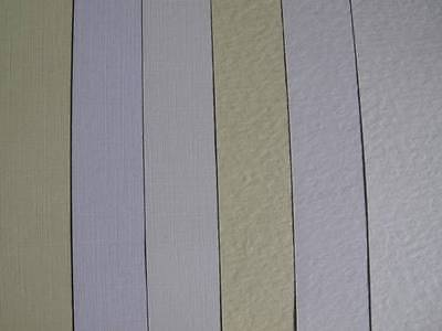 20 x A4 Zeta Unwatermarked Textured Paper 100gsm Hammer or Linen Ivory or White