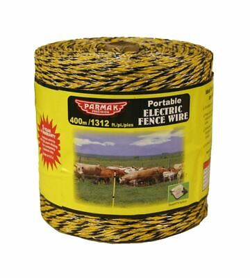 Platinum Series Heavy Duty Electric Fence Wire Silver Parker 960 4 x 4 656 ft