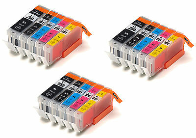 15pk for Canon PGI-250XL CLI-251 Ink Cartridge MG7120 Red MG6320 Blue w/Chip New