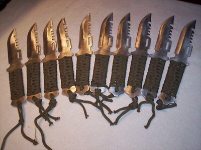 Knives Camping Hunting Hike Clearance Lot of 10 Lightweight Paracord handle wrap