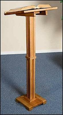 """MRT Solid Wood Lectern 43"""" Church Chapel Quality Pulpit Stand Pecan Stain Finish"""