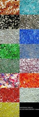 50g Glass Mini Pebble Drops 3-6mm Various Colours Mosaic Home Wedding Garden
