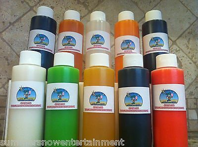 Shaved Ice Snow Cone Concentrate-(10) 4oz Bottles (Each Bottle Makes 1 Gallon)