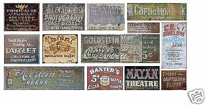 HO Scale Ghost Sign Decals #31 - For Structures & Buildings Lot!