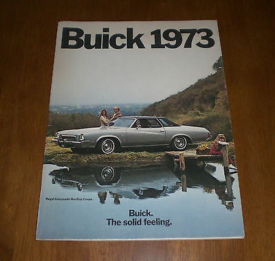1973 Buick Sales Brochure - The Solid Feeling