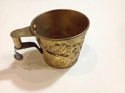 Vintage Hand Made Vapheio Cup Copper Relief Bulls Mycenaean Vaphio Lead Seal