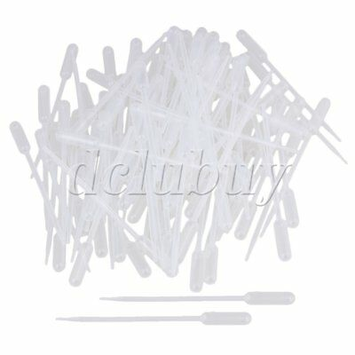 New 100Pcs 0.5ML Disposable Pipet Droppers Transfer Pasteur Pipettes Plastic