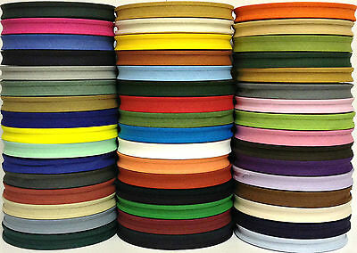 "Cotton Bias Binding Tape Folded 25 X 16Mm (5/8""), Choose Colour & Length"