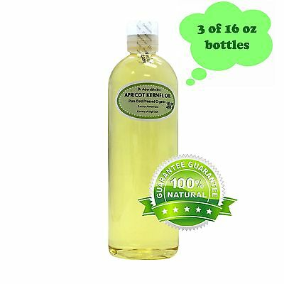 48 Oz Premium 100% Pure Organic Cold Pressed Natural Apricot Kernel Oil