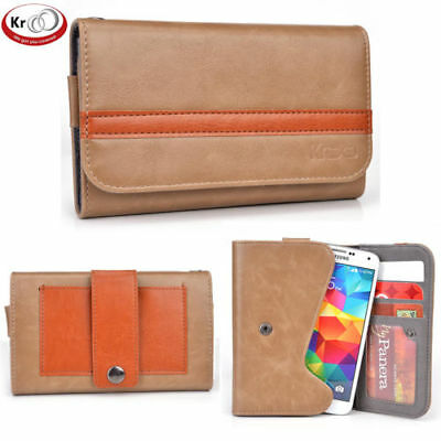 KroO Belt Loop Wallet Holster Style Cover Case for Phones up to 5.2 Inch