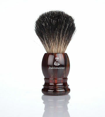 ZWICKMEISTER Rasierpinsel HAVANNA Dachshaar Graudachs shaving brush 21 mm