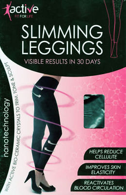 New Ladies Anti-Cellulite Calorie Burning Slimming Control Leggings Black