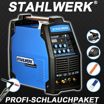 Vorteils-Set: Schweißgerät Wig 200 Puls S - Dc Tig Inverter Welding Machine Arc