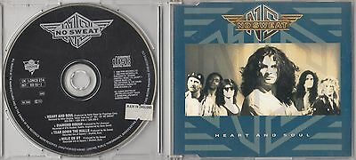 NO SWEAT - HEART AND SOUL CD SINGLE IMPORT 1990 LONCD274