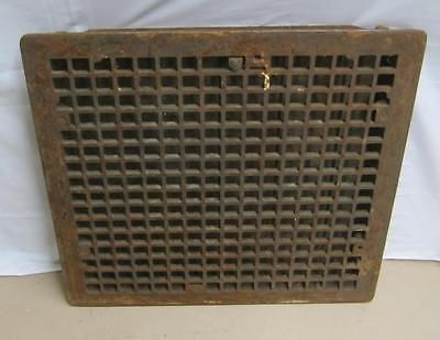 Vintage Large Cast Iron Arts & Crafts Louvered Floor Heat Grate Register 3408-14