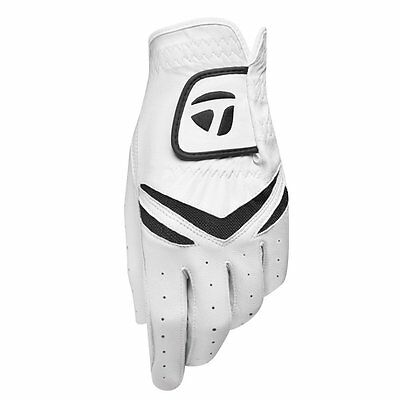 TaylorMade Stratus Men's Golf Gloves 3-Pack White - Worn On Left Hand -Pick Size