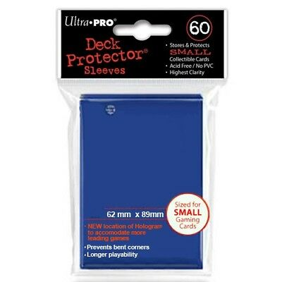 Ultra Pro 60 Small Size Blue Deck Protector Sleeves Fit Yugioh