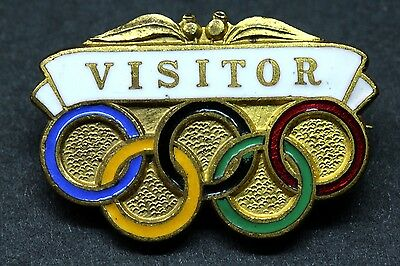 1956 Olympic Games Melbourne Visitor Badge - K.G.Luke Melbourne
