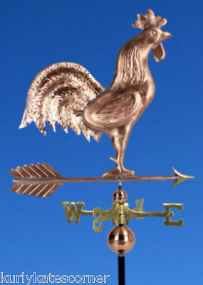 "Large Copper "" Rooster"" Weathervane  Made In Usa #363"