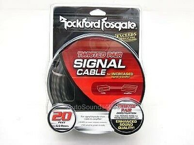 Rockford Fosgate RFI-20' FT RCA Cable Wire 2 Channel