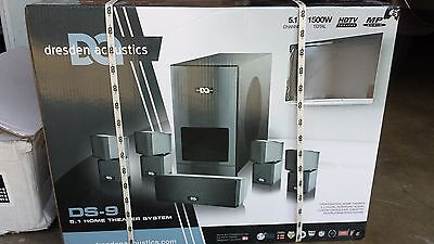 New Dresden Acoustics DS 9, 5.1 Home Theater System 1500w Total HDTV