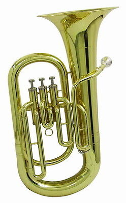 "DIMAVERY EP-300 Bb EUPHONIUM ""GOLD""  inkl. KOFFER 3- Ventile"