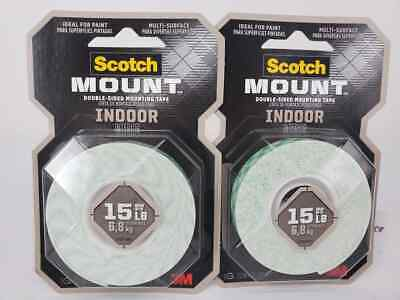 2 x 3M Scotch 110  Double Sided Foam Mounting Tape 12.7mmx1.9M 70005036184^