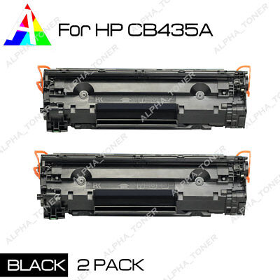 2 Pack New Compatible CB435A 35A Toner Cartridge For HP LaserJet P1005 P1006