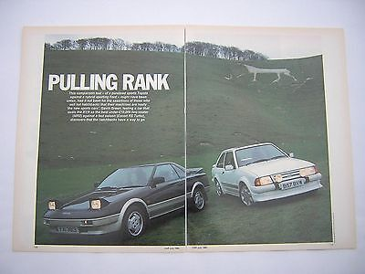 Toyota MR2 v Ford Escort RS Turbo Road Test from 1985 - Original
