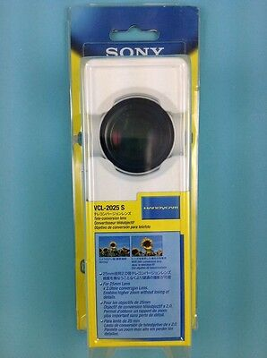 Sony VCL-2025 S Tele-Conversion Lens for Handycam #9126 Free Ship New Old Stock