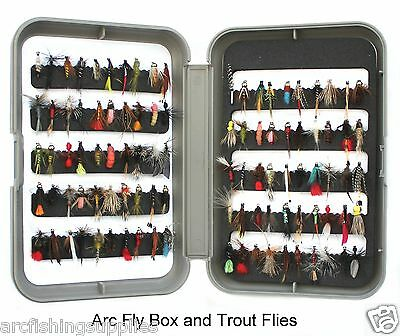 NP FISHING PRESENT / GIFT Fly Fishing Box and trout fishing flies / fly hooks