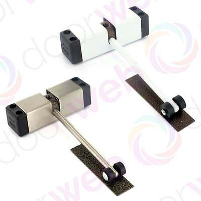 DOOR CLOSER Surface Mounted Adjustable Tension Sprung White Stainless Steel