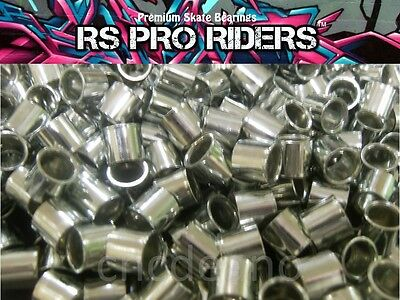 QUALITY 10mm ALLOY SKATEBOARD SCOOTER INLINE SKATE WHEEL BEARING SPACERS FREEP&P