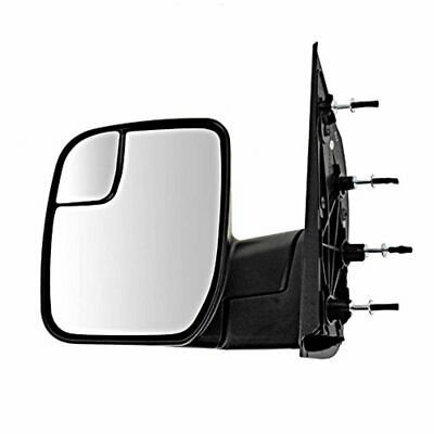 10-14 E-Series Left Driver Mirror Manual Textured Blk w/Spotter Glass Sail Type