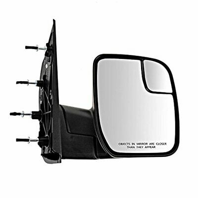10-14 E-Series Right Pass Mirror Manual Textured Black w/Spotter Glass Sail Type
